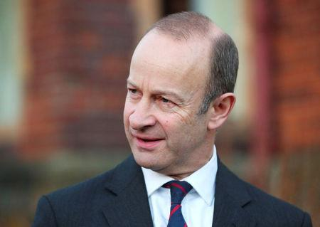 FILE PHOTO: Henry Bolton, the leader of UKIP (United Kingdom Independence Party) gives a statement in Folkestone, Britain, January 22, 2018. REUTERS/Hannah McKay/File Photo