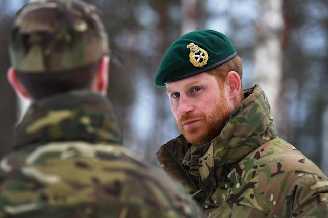 The Duke of Sussex during a visit to Exercise Clockwork in Bardufoss, Norway. (PA images)