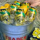 """<p>Boozy lemonade, anyone? Trader Joe's has added <a href=""""https://www.traderjoes.com/digin/post/lemon-peal"""" rel=""""nofollow noopener"""" target=""""_blank"""" data-ylk=""""slk:Lemon Peal to its Campanology"""" class=""""link rapid-noclick-resp"""">Lemon Peal to its Campanology</a>. The high-alcohol base is infused with fresh lemon juice, cane sugar, and a touch of citric acid. The hard lemonade has 5.7% ABV and will surely be your sip of choice this summer.</p>"""