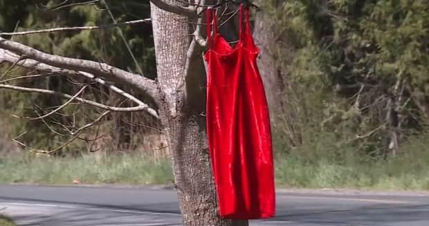Red dresses have become a powerful symbol to represent missing and murdered Indigenous women and girls across the country.  (CHEK News - image credit)
