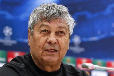 Shakhtar Donetsk's coach Mircea Lucescu attends a news conference at the Arena Lviv stadium in Lviv February 16, 2015. REUTERS/Valentyn Ogirenko