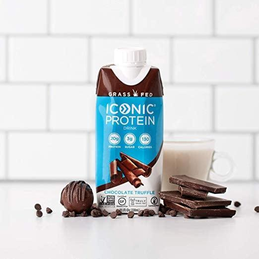 <p>This <span>Iconic Protein Drinks, Chocolate Truffle</span> ($37 for 12) tastes just like chocolate milk, and it packs a whopping 20 grams of protein and four grams of net carbs.</p>
