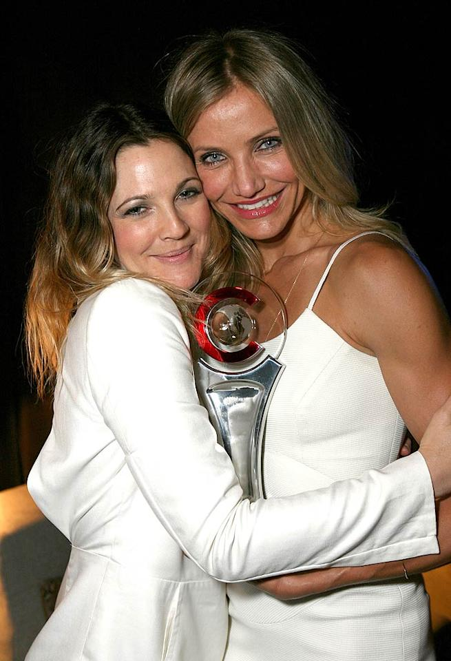 "Drew Barrymore was on hand to present her ""Charlie's Angels"" BFF Cameron Diaz with the Female Star of the Year award during CinemaCon at Caesars Palace in Las Vegas Wednesday. While accepting her trophy, Diaz accidentally let her nickname for Barrymore slip when she took the mic saying, ""Thanks, poo-poo."" Too funny. Ryan Miller/<a href=""http://www.gettyimages.com/"" target=""new"">GettyImages.com</a> - March 30, 2011"
