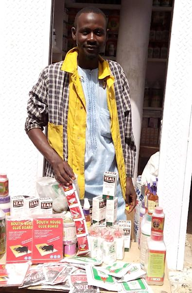 A vendor sells rat poison in northern Nigeria's largest city of Kano (AFP Photo/Aminu Abubakar)