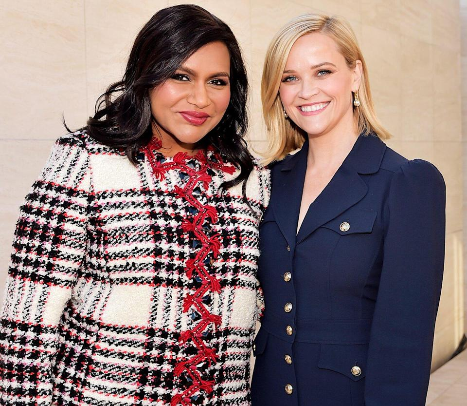 Mindy Kaling and Reese Witherspoon attend The Hollywood Reporter's Power 100 Women in Entertainment at Milk Studios on December 11, 2019 in Hollywood, California.