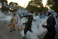 Police fired tear gas to control crowds in Pakistan's capital