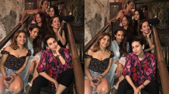 After returning from their respective holidays, Malaika Arora and Karisma Kapoor reunited with their gang for a girls night out.