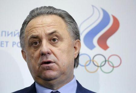 Russian Sports Minister Vitaly Mutko speaks to the media during a news conference in Moscow, Russia, January 16, 2016. REUTERS/Maxim Shemetov