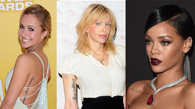 Omg 11 worst celeb word tattoos for What does regrets only mean