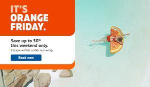 Sunwing offers up to 50% off vacation packages during their Black Friday event.