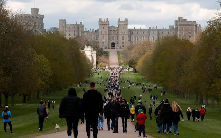 The Long Walk in Windsor - AP Photo/Frank Augstein