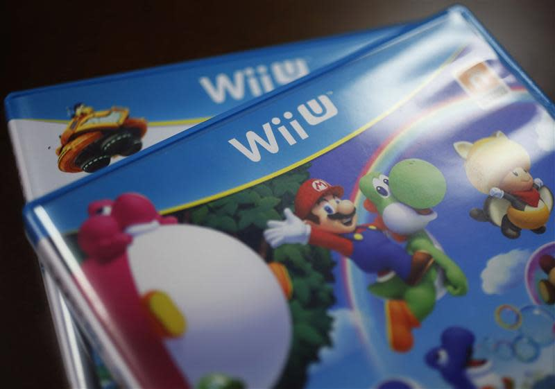 File photo of Packages of Nintendo Co's Wii U gaming software pictured at the company headquarters in Kyoto