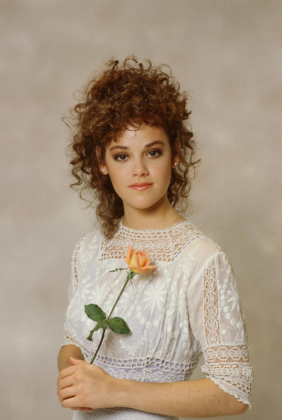 LOS ANGELES - JANUARY 1: MY SISTER SAM cast member Rebecca Schaeffer, seen here out of character. Image dated 1987. (Photo by CBS via Getty Images)