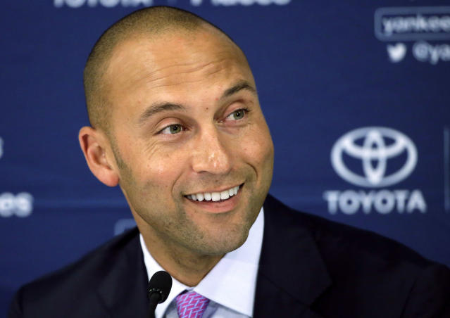 New Marlins owner Derek Jeter is going on a firing spree. (AP)