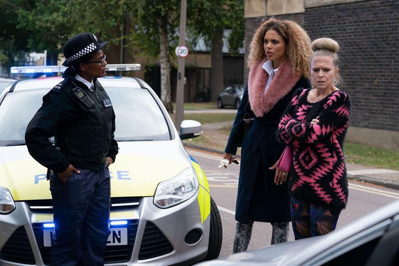<p>After being forced to take a breathalyser test, Linda is summoned down to the station.</p>