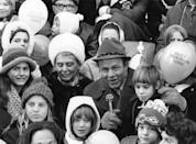 <p>For the first time since the helium shortage during World War II, balloons were grounded at the Macy's Thanksgiving Day Parade in 1971. Although crowds were smaller than usual, people still came out to see decorative floats, including Tom Turkey's debut, as well as marching bands. </p>
