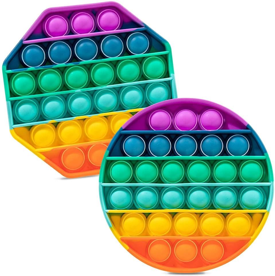 <p>Imagine capturing the fun of bubble wrap in one easily transportable toy, and you have the <span>iBaste Push Pop Pop Bubble Sensory Fidget Toy</span> ($11, originally $13). This brightly colored silicone circle is filled with bubbles that can be popped to relieve stress.</p>