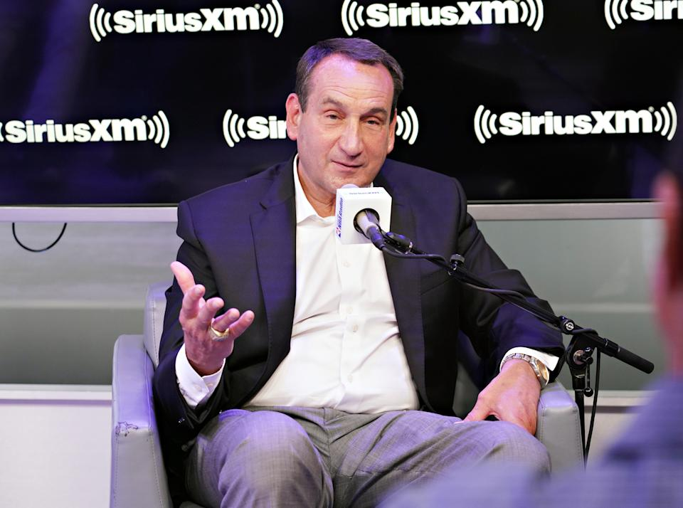 Duke men's basketball coach Mike Krzyzewski is in favor of California's Fair Pay to Play Act. (Photo by Cindy Ord/Getty Images for SiriusXM)