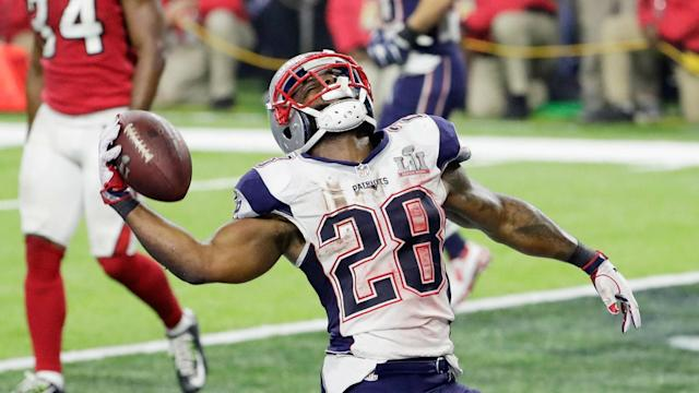 James White and the Patriots have reportedly agreed to a three-year contract extension, tying him to New England through 2020.