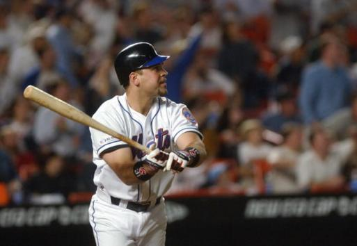Mike Piazza connects for a memorable home run on Sept. 21, 2001. (Getty Images)