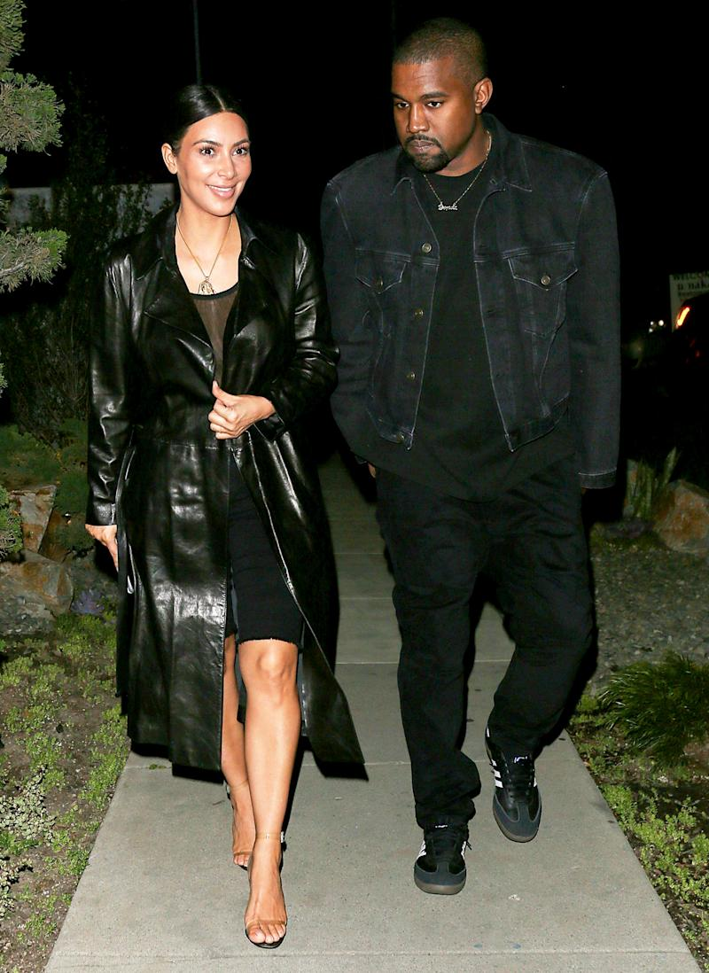 b968407eb6032 WITH CLEAR SANDALS. WITH CLEAR SANDALS. Kim Kardashian even made biker  shorts work for a date night with husband Kanye West.
