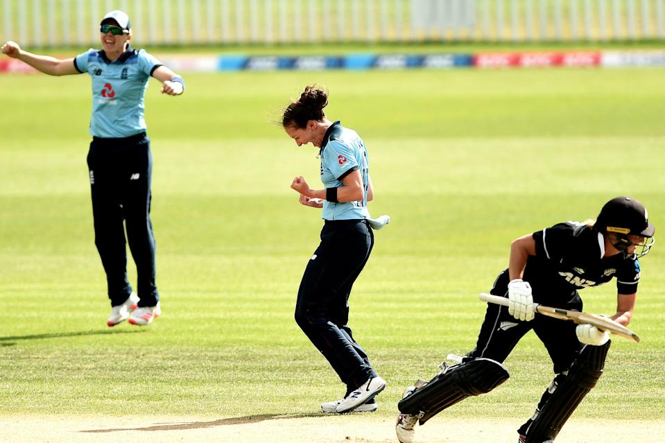 Kate Cross in ODI action for England against New Zealand (Getty Images)