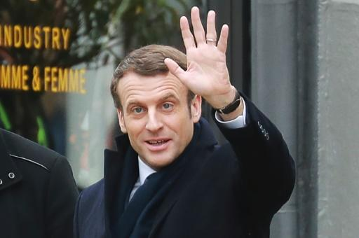 French President Emmanuel Macron cast his vote Sunday in Le Touquet, northern France