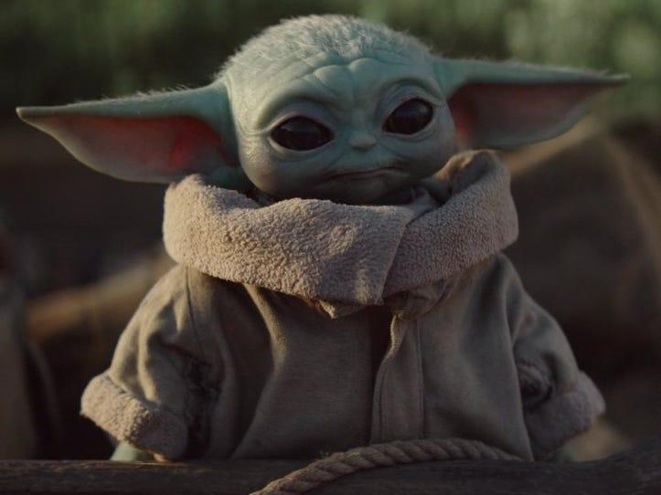 """The Child, or """"Baby Yoda,"""" in """"The Mandalorian."""""""