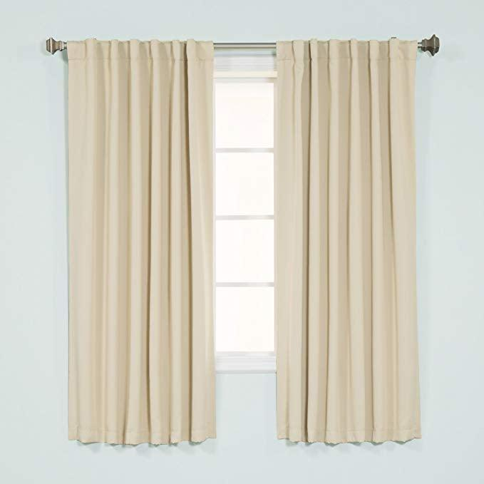 <p>Block out the light and sleep more soundly with these <span>Best Home Fashion Thermal Insulated Blackout Curtains</span> ($33).</p>