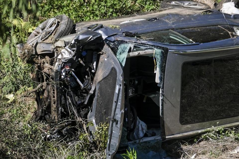 Tiger Woods's car was severely damaged in the accident