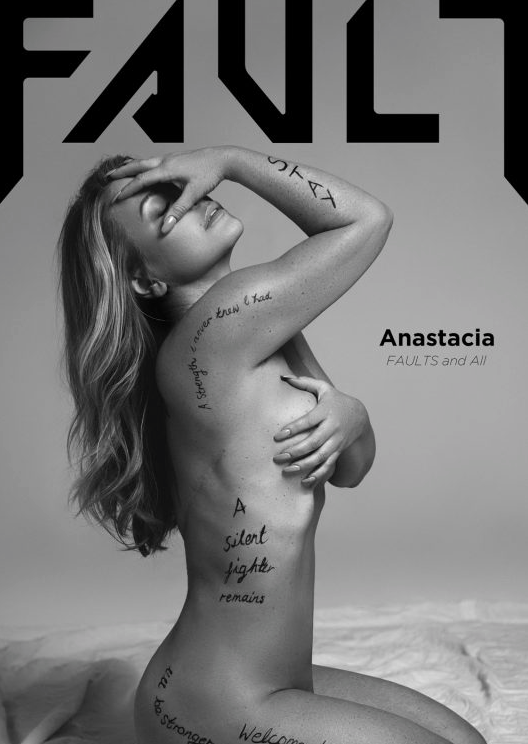 Anastacia has posed nude to reveal her mastectomy scars for the very first time [Photo: Andres De Lara for Fault magazine]