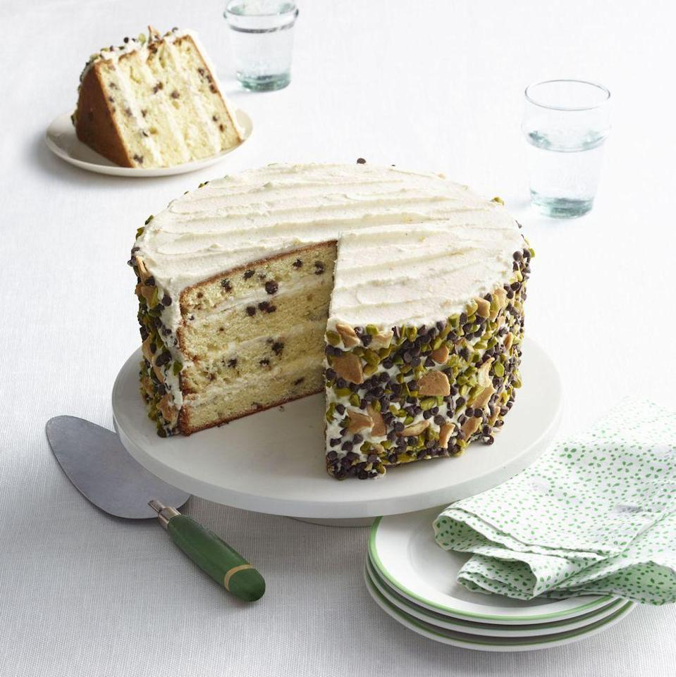 "<p>Mini chocolate chips, orange zest, and whole-milk ricotta preserve traditional cannoli flavors, all in a sliceable and shareable cake.</p><p><em><a href=""https://www.goodhousekeeping.com/food-recipes/a16394/cannoli-cake-recipe-wdy0315/"" rel=""nofollow noopener"" target=""_blank"" data-ylk=""slk:Get the recipe for Cannoli Cake »"" class=""link rapid-noclick-resp"">Get the recipe for Cannoli Cake »</a></em></p>"