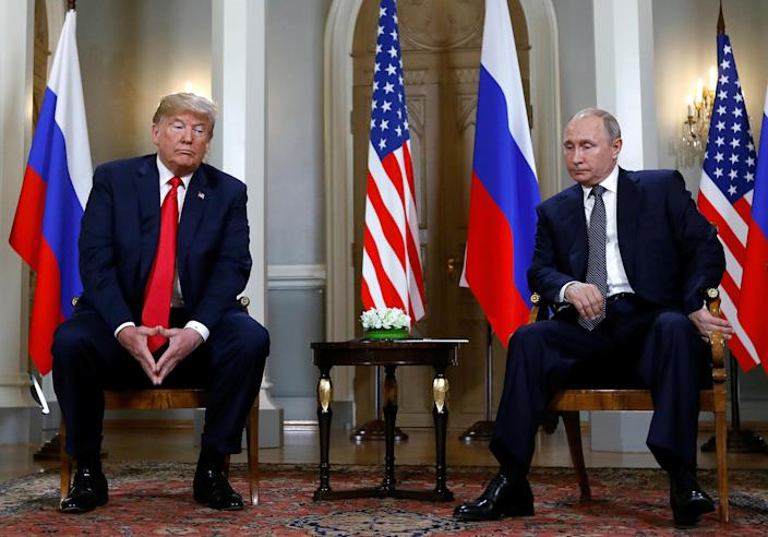 Image: Trump meets with Putin in Helsinki, Finland (Kevin Lamarque / Reuters file)