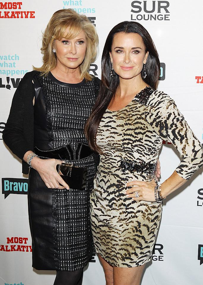 "Vanderpump's co-star Kyle Richards brought her big sister Kathy Hilton  (yes, Paris' mom) to the soiree. Her other sister, Kim, is also a  ""RHoBH"" castmate, but she was not in attendance on Monday night.  (5/14/2012)"