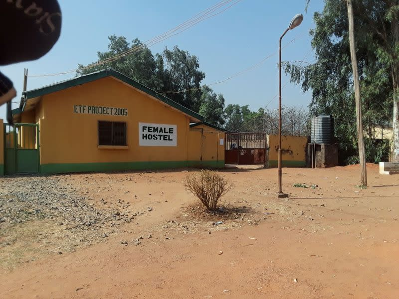 View shows one of the hostels where gunmen abducted students of the Federal College of Forestry Mechanization in Kaduna