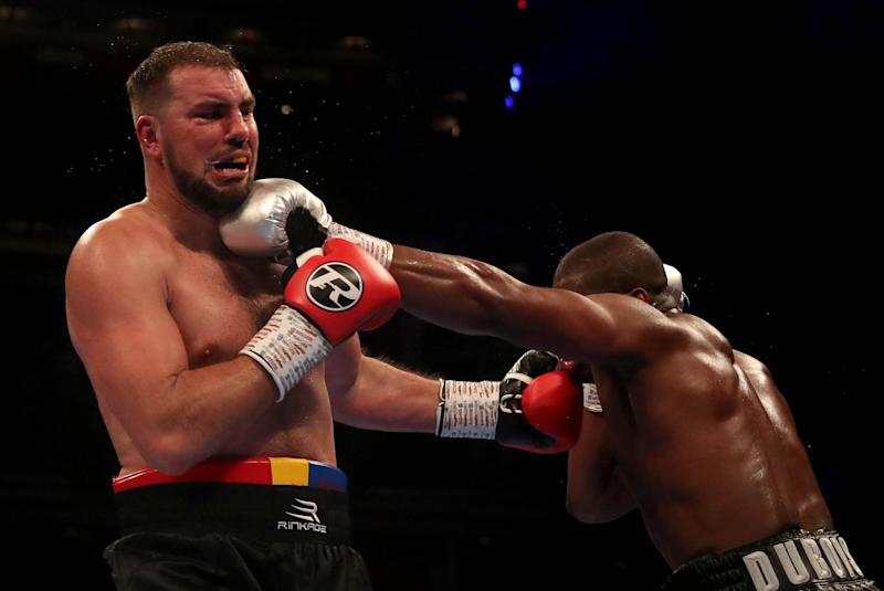 Dubois made quick work of Cojanu. (Getty Images)