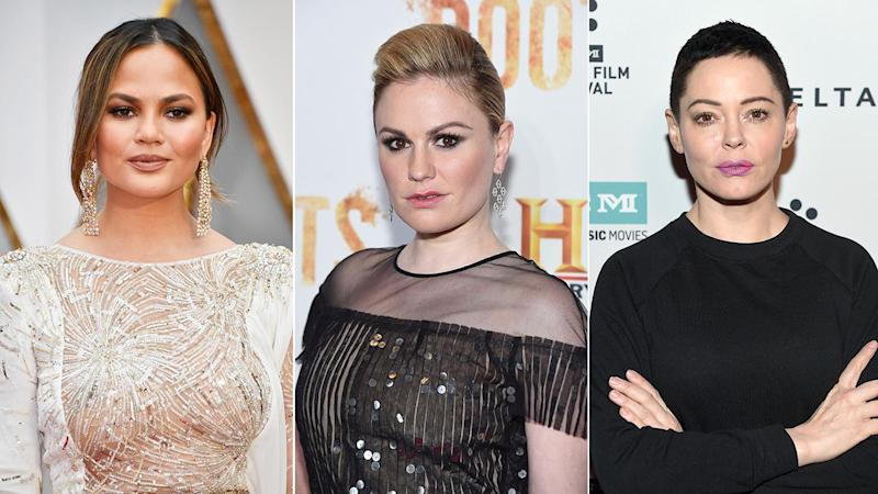 Chrissy Teigen, Anna Paquin, and More Support Rose McGowan in #WomenBoycottTwitter