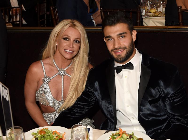 Spears and Asghari attend the 29th Annual GLAAD Media Awards on April 12, 2018 in Beverly Hills. (Photo: J. Merritt via Getty Images)