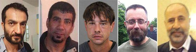 This combo of photos provided by the Toronto Police Service shows the five men Toronto landscaper Bruce McArthur is accused of killing, from left to right; Selim Essen, 44, Sorush Mahmudi, 50, Dean Lisowick, Andrew Kinsman, 49, and Majeed Kayhan, 58. Source: Toronto Police Service