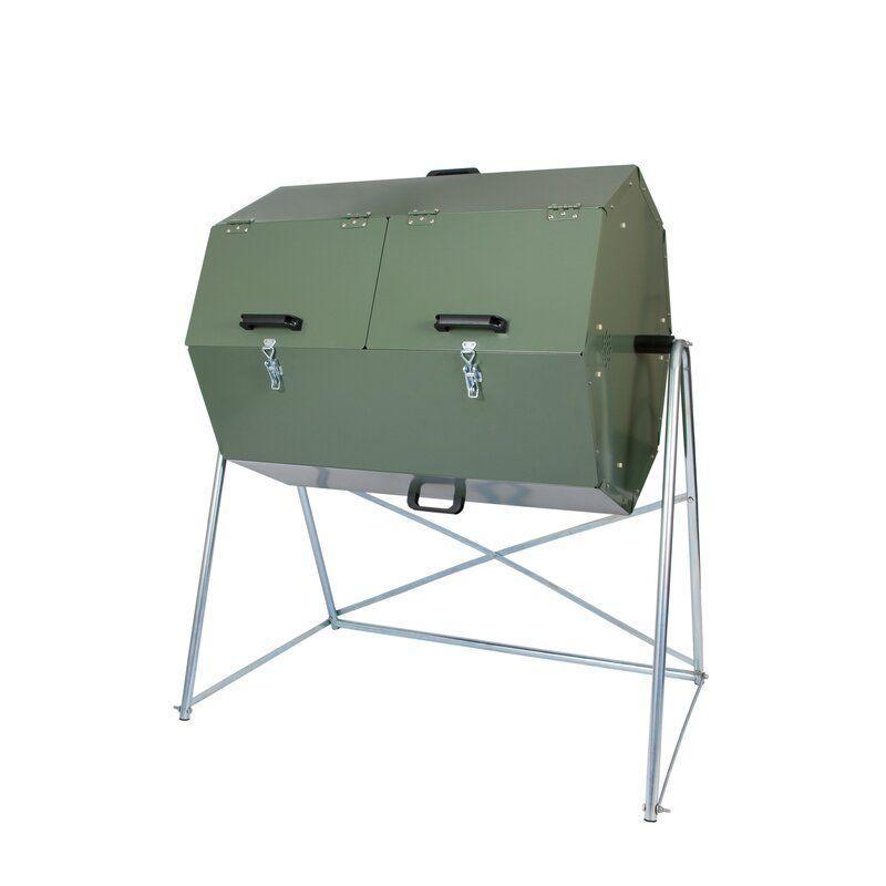"""<p><strong>Jora Tumbler Composter</strong></p><p>wayfair.com</p><p><strong>$439.99</strong></p><p><a href=""""https://go.redirectingat.com?id=74968X1596630&url=https%3A%2F%2Fwww.wayfair.com%2Foutdoor%2Fpdp%2Fjora-composter-composter-95-cu-ft-tumbler-composter-xwf1007.html&sref=https%3A%2F%2Fwww.countryliving.com%2Fgardening%2Fgarden-ideas%2Fg35980340%2Fcompost-bins%2F"""" rel=""""nofollow noopener"""" target=""""_blank"""" data-ylk=""""slk:Shop Now"""" class=""""link rapid-noclick-resp"""">Shop Now</a></p><p>If you live in an area with lots of critters, you may discover that even a sturdy plastic composter is no match for their determined, gnawing teeth. When that happens, you'll need to invest in something a little more sturdy. This galvanized steel tumbler will resist even the most determined scavenger.</p>"""