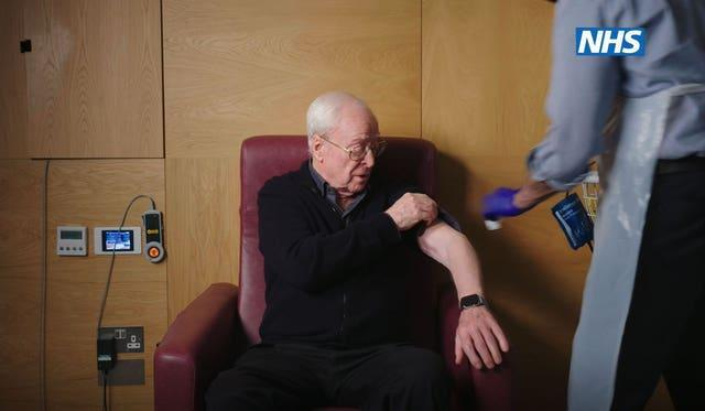 Sir Michael Caine in the new NHS video