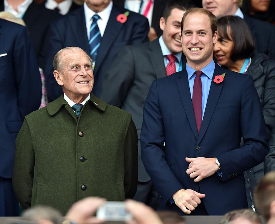 Prince Philip and Prince William attend rugby world cup