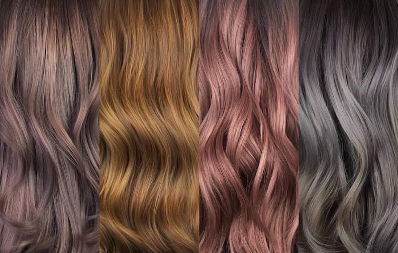 Metallic hair colour trends