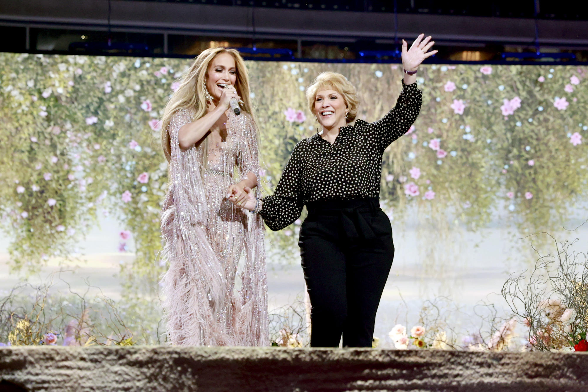 Jennifer Lopez brings mom, 75, onstage for touching performance at 'Vax Live' concert