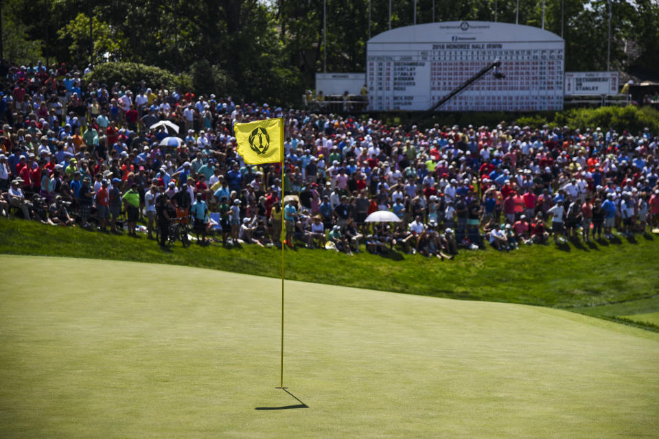 The Memorial Tournament is expected to be the first PGA Tour event that allows fans in next month despite a sharp rise in coronavirus cases around the country. (Keyur Khamar/PGA TOUR)