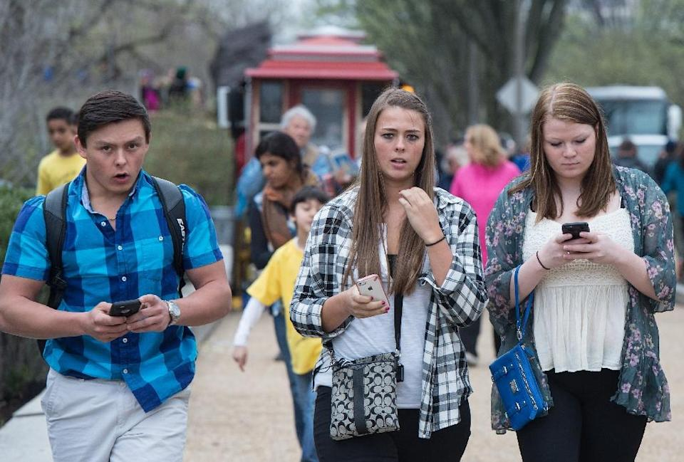 Increased smartphone adoption in the United States has come amid little or no growth in many other electronics categories such as desktop computers, gaming consoles, MP3 players and e-readers (AFP Photo/Nicholas Kamm)