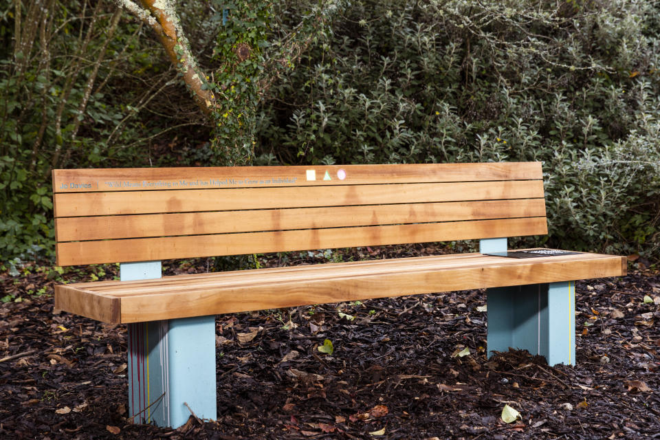 Jo's fundraising and campaigning efforts have earned her a lasting tribute in the local community, in the form of a bespoke bench, distinctively designed by BBC Repair Shop's Jay Blades