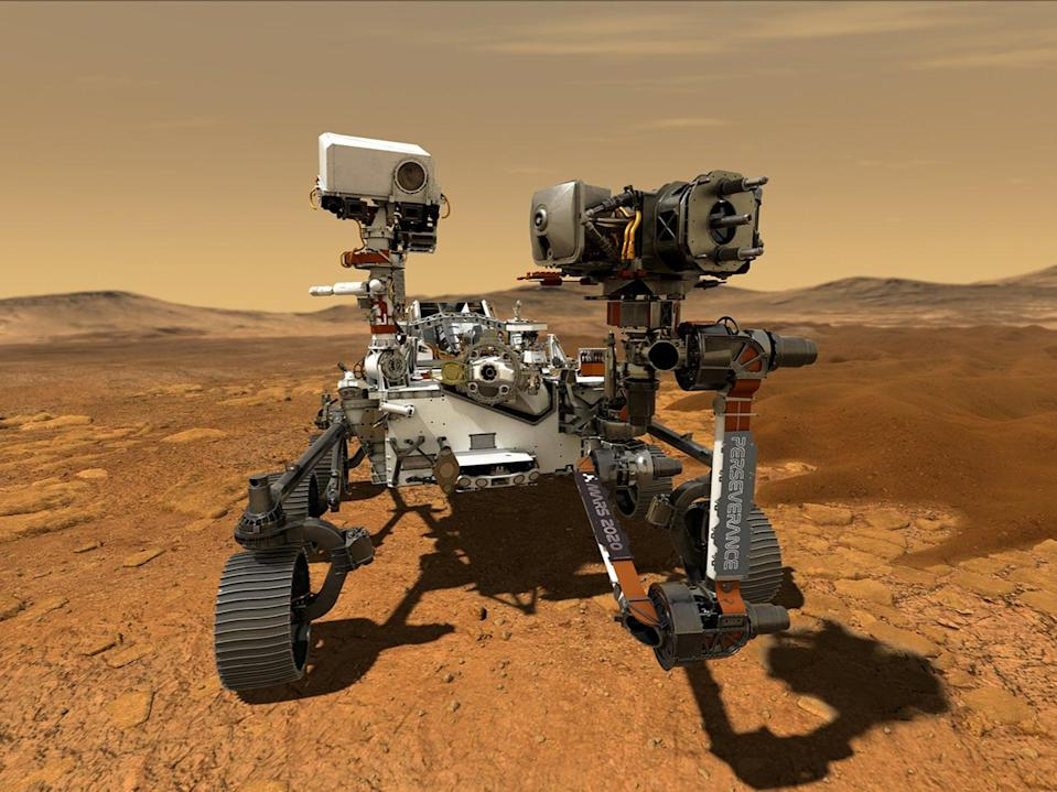NASA's Perseverance Mars rover, the biggest, heaviest, most advanced vehicle sent to the Red Planet by the National Aeronautics and Space Administration  (via REUTERS)