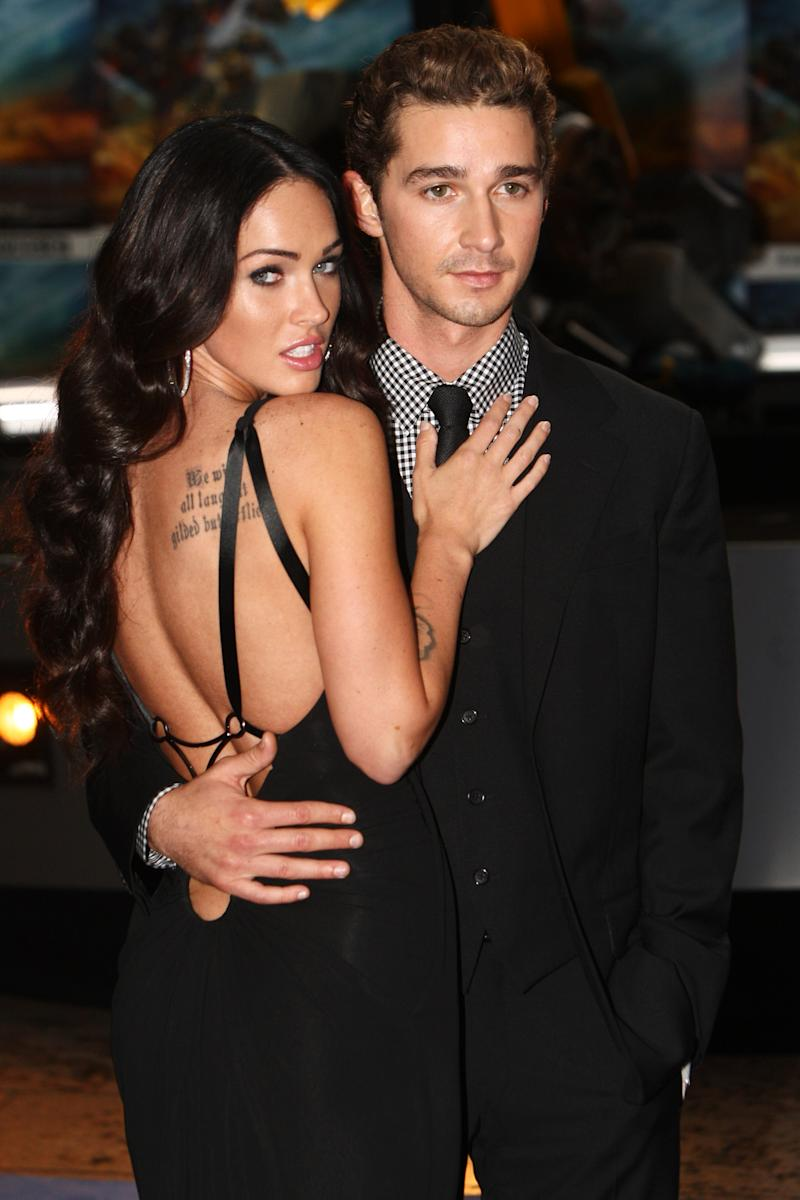 Megan Fox and Shia LaBeouf attend the London premiere of Transformers: Revenge of the Fallen on June 15, 2009.