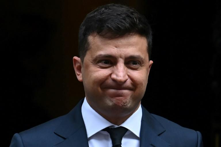 "Ukraine's President Volodymyr Zelensky said his temperature was 37.5C after contracting coronavirus but that he felt ""good"""
